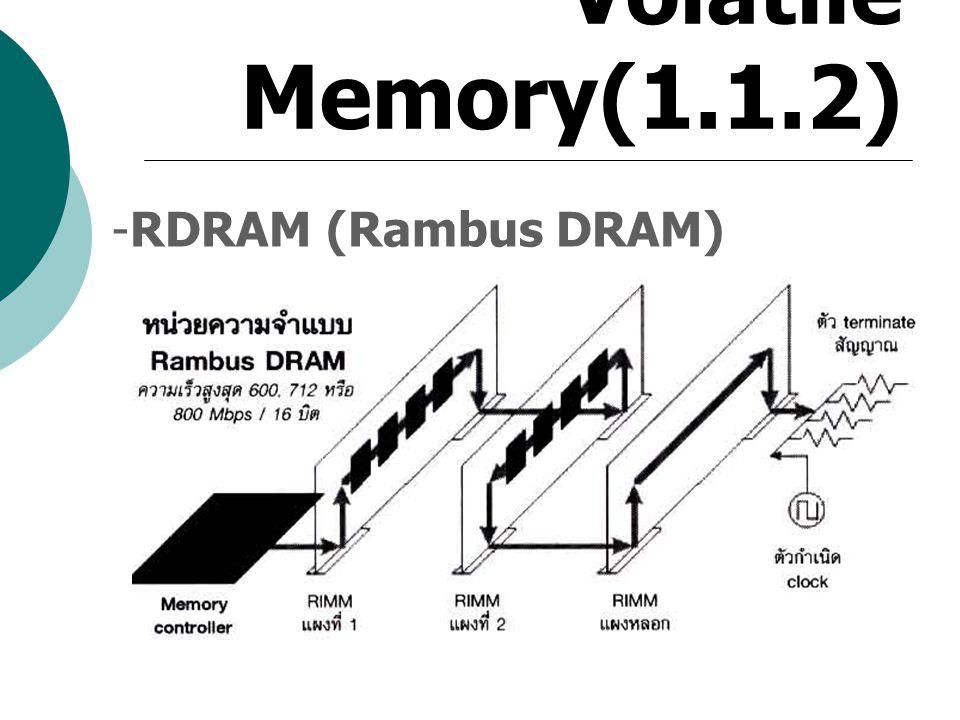 Volatile Memory(1.1.2) -RDRAM (Rambus DRAM)