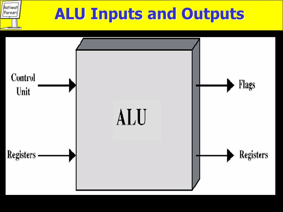 ALU Inputs and Outputs