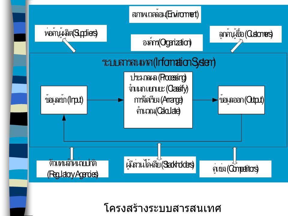 โครงสร้างระบบสารสนเทศ