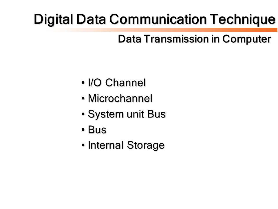 Digital Data Communication Technique Data Transmission in Computer
