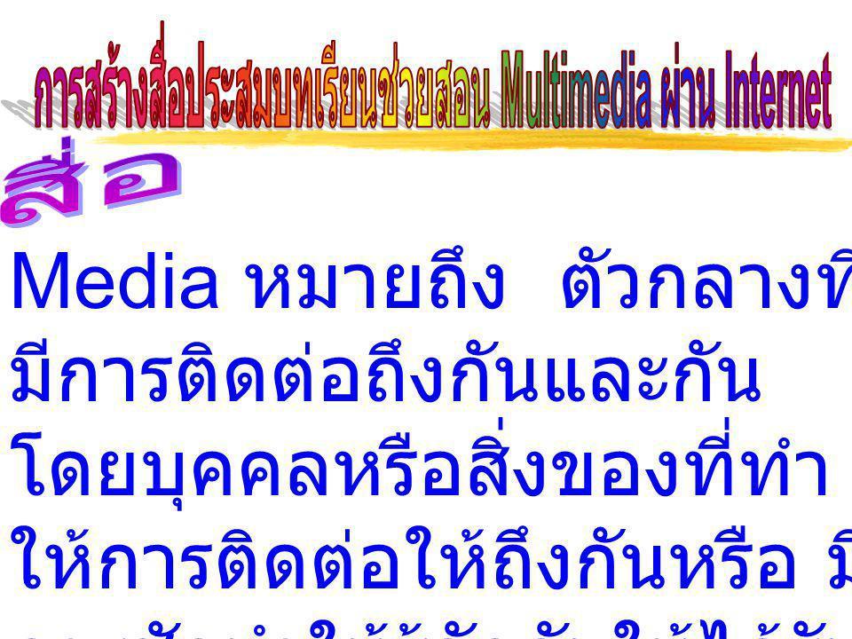 สื่อในการติดต่อสื่อสาร Communication Media สื่อการศึกษา Education Media สื่อการเรียนการสอน Instructional Media สื่อการสอน Teaching Media สื่อโสตทัศน์ Audiovisual Media