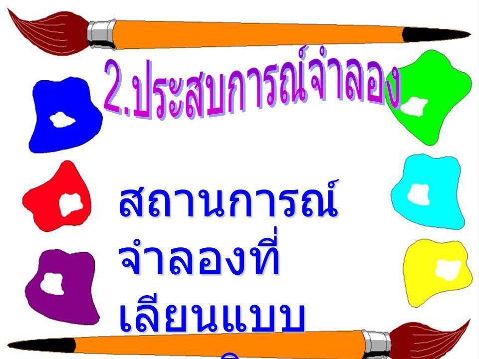 กลุ่มที่ 3 ขั้น 1 - 3 เป็นการ เรียนรู้ทาง สัญลักษณ์