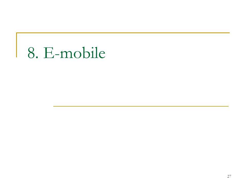 27 8. E-mobile