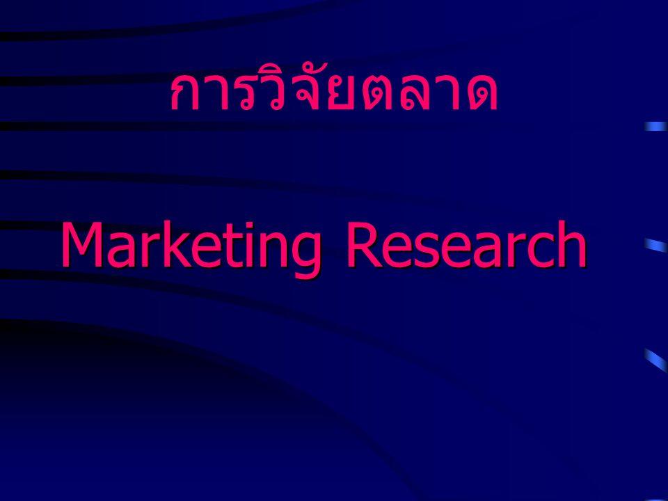 การวิจัยตลาด Marketing Research