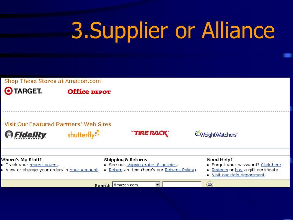 3.Supplier or Alliance