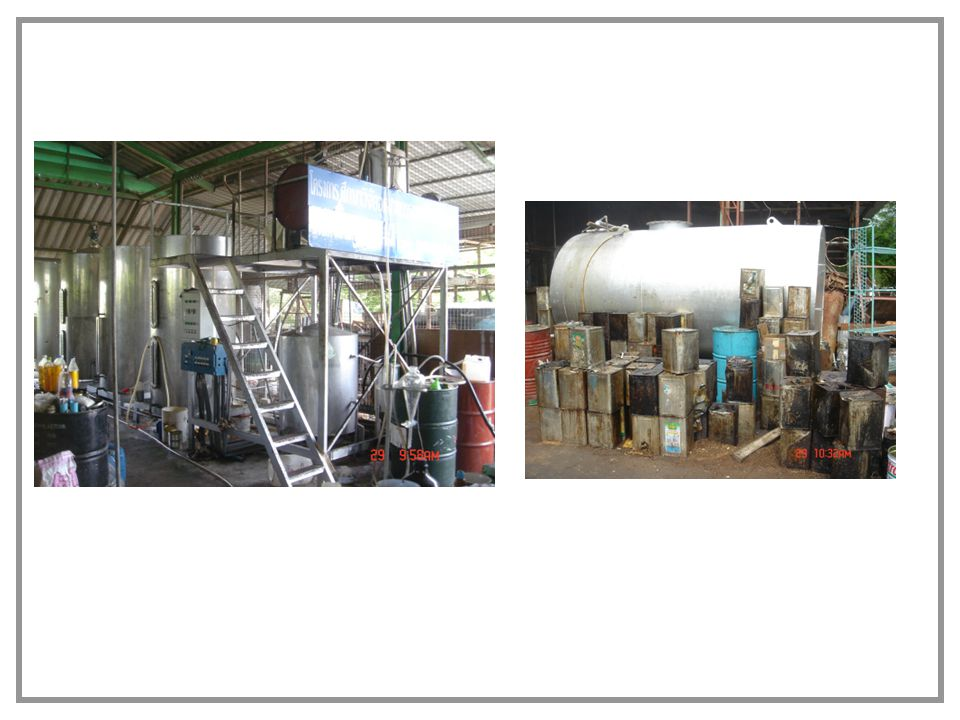 Other example of successful cases Prathom Asoke, Nakorn prathom, Thailand 150 L/batch, used cooking oil