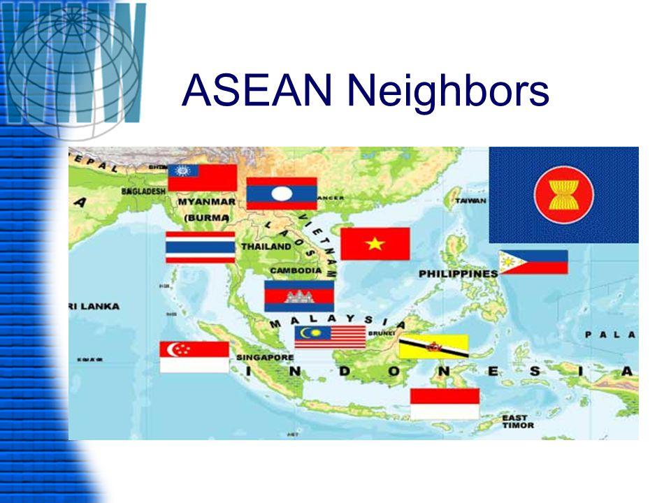 ประเทศสมาชิกอาเซียน มี 10 ประเทศ 1.บูรไน ดารุสซาลาม (Brunei Darussalam) 2.