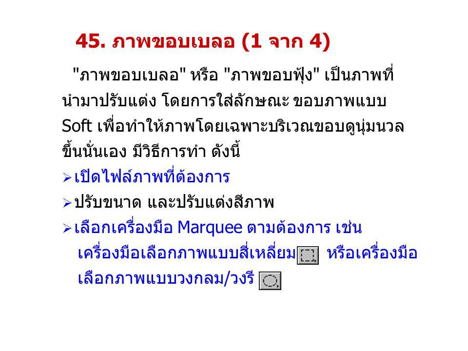45. ภาพขอบเบลอ (1 จาก 4)