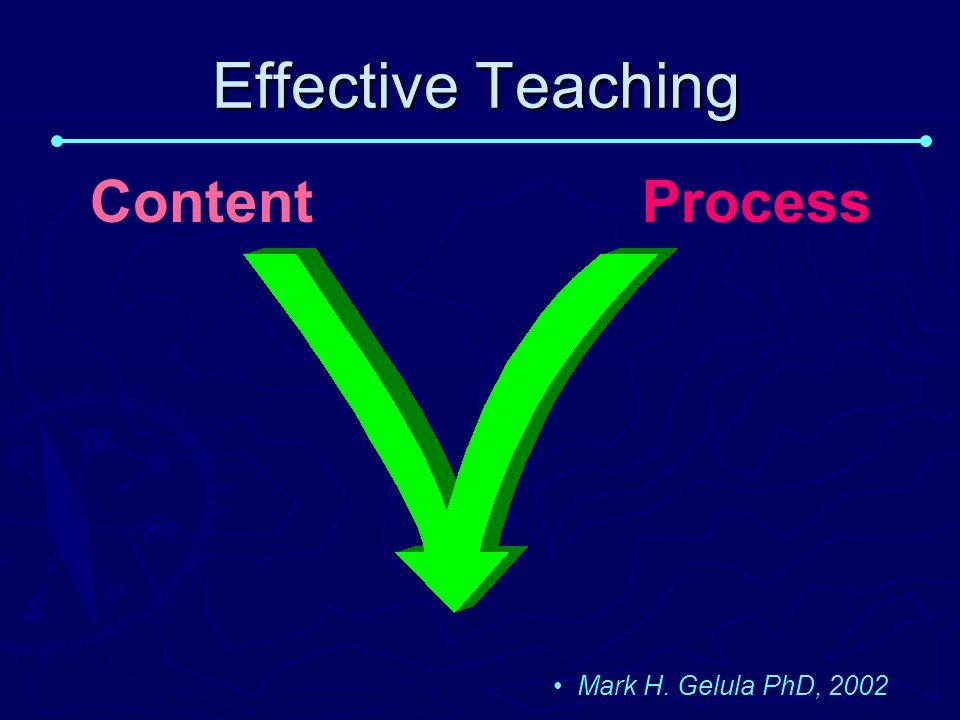 Effective Teaching ContentProcess Mark H. Gelula PhD, 2002