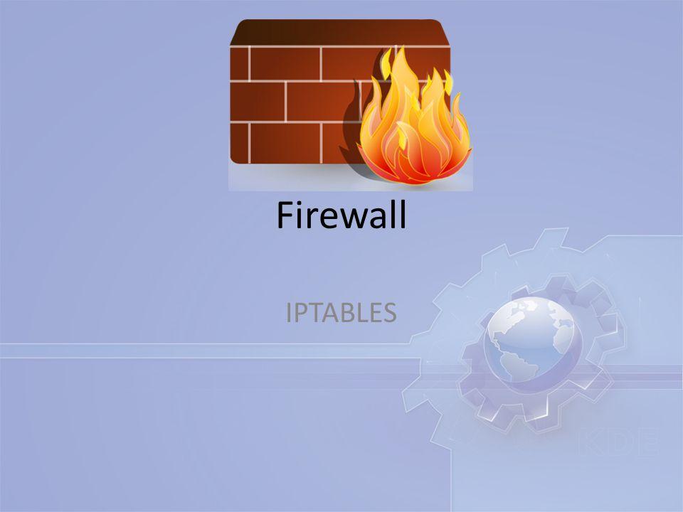 เริ่มต้นในการ set firewall นั้น จะเริ่มทำการปิด หรือ DROP policy ของทุก Chain ก่อน iptables -P INPUT DROP iptables -P OUTPUT DROP iptables -P FORWARD DROP #1.