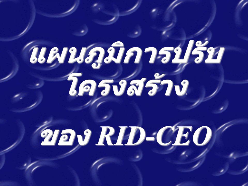แผนภูมิการปรับ โครงสร้าง ของ RID-CEO