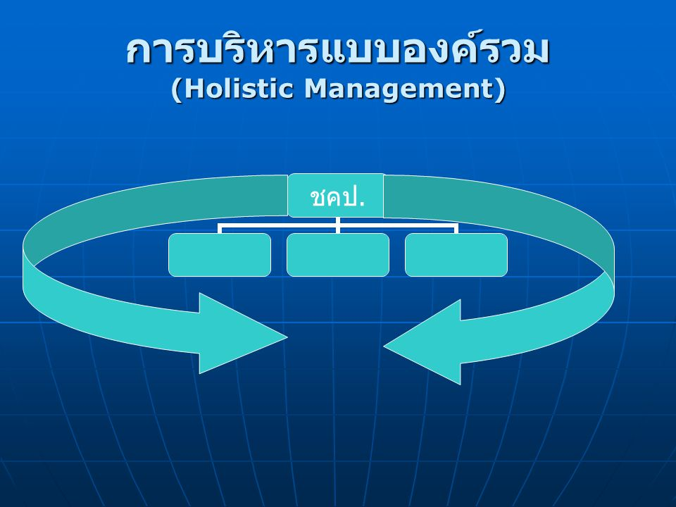 การบริหารแบบองค์รวม (Holistic Management) ชคป.