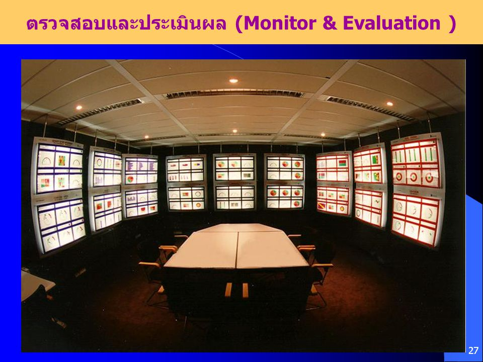 27 ตรวจสอบและประเมินผล (Monitor & Evaluation )