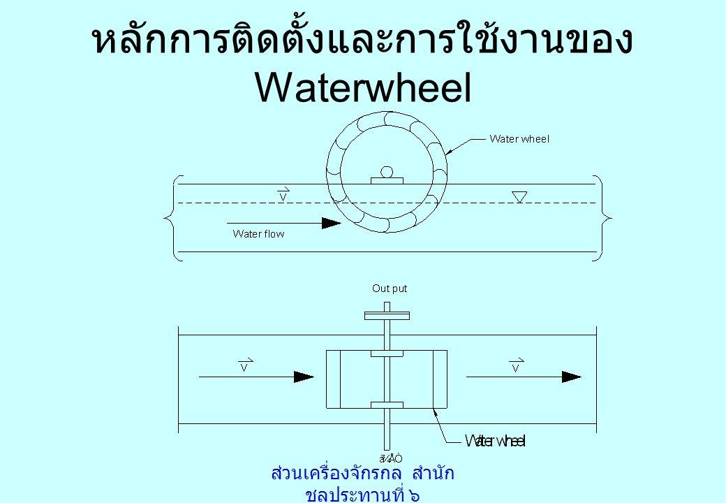 ส่วนเครื่องจักรกล สำนัก ชลประทานที่ ๖ หลักการติดตั้งและการใช้งานของ Waterwheel