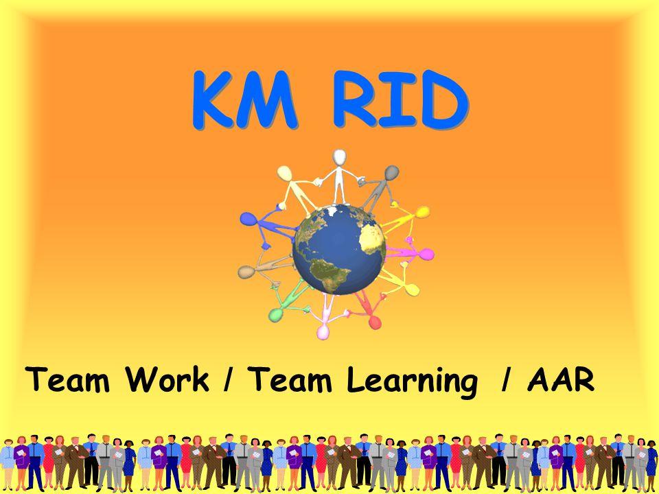 KM RID Team Work / Team Learning / AAR