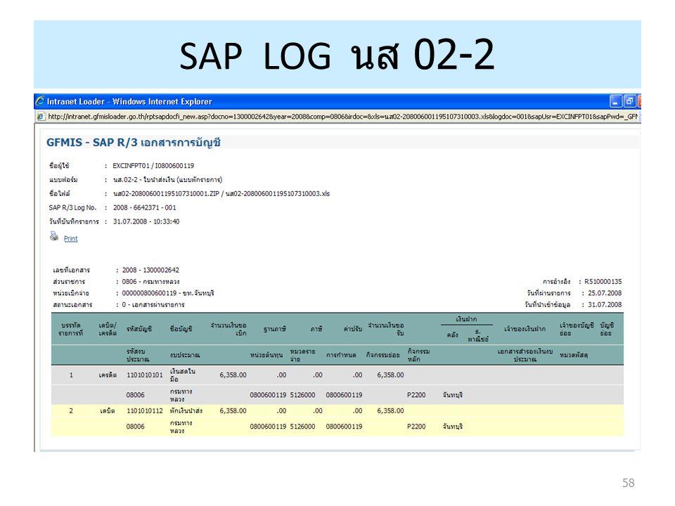 58 SAP LOG นส 02-2