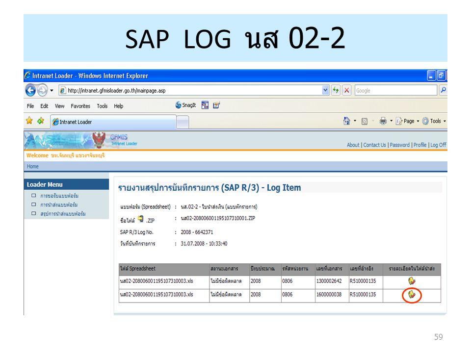 59 SAP LOG นส 02-2