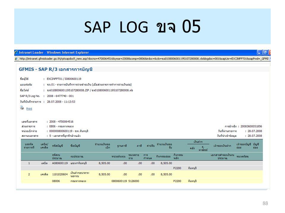 88 SAP LOG ขจ 0 5