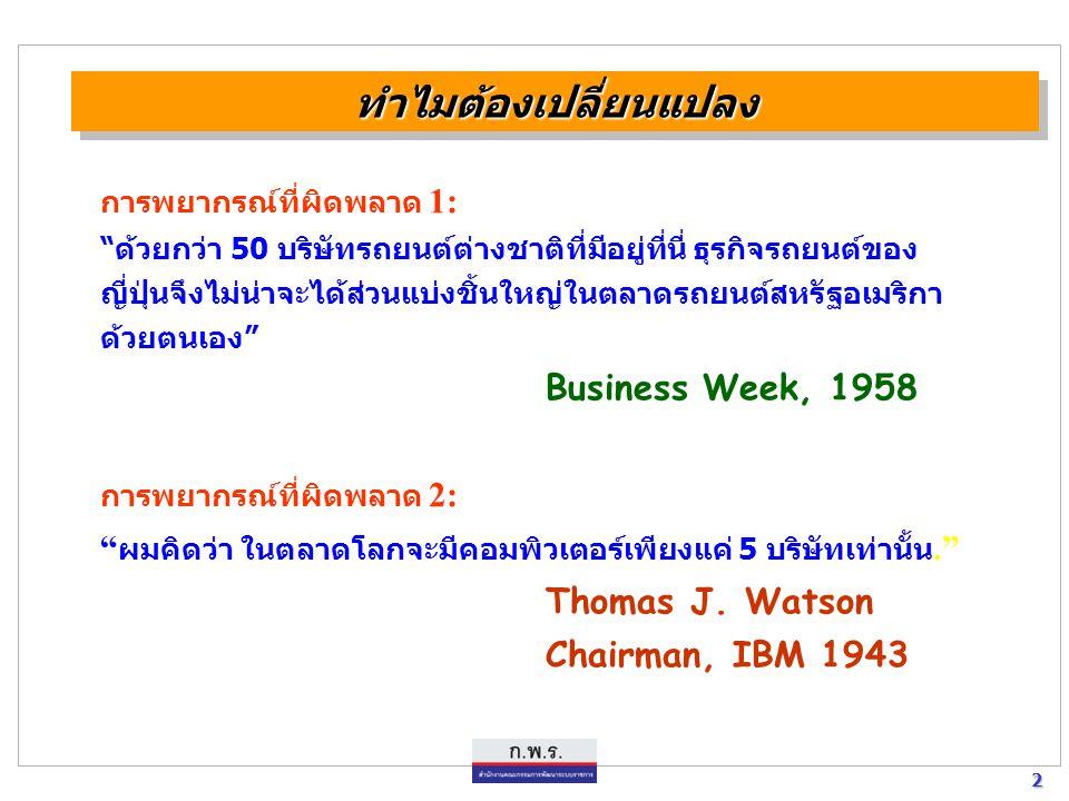 23 23 แผนยุทธศาสตร์การพัฒนาระบบราชการไทย [พ.ศ.2546 - พ.ศ.