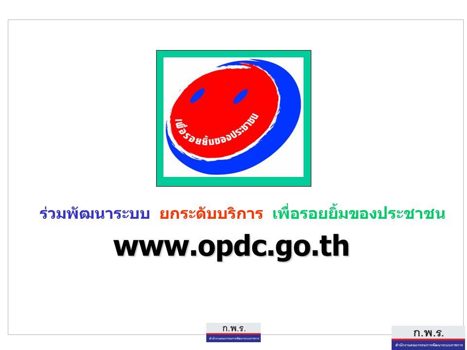 29 29 ร่วมพัฒนาระบบ ยกระดับบริการ เพื่อรอยยิ้มของประชาชน www.opdc.go.th