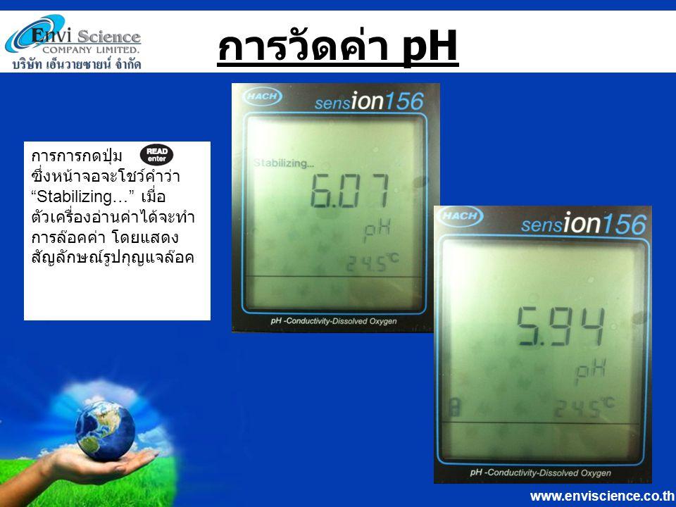www.enviscience.co.th วิธีการ Calibrate Probe pH 1.