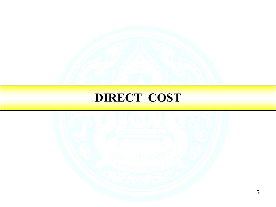 5 DIRECT COST