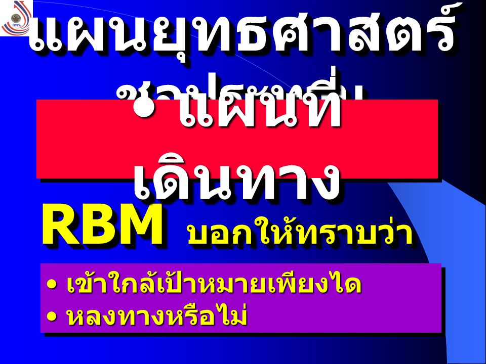 โครงสร้าง RBM 4 ด้าน 4 ด้าน 10 ปัจจัยหลัก 10 ปัจจัยหลัก 18 ตัวชี้วัด 18 ตัวชี้วัด 4 ด้าน 4 ด้าน 10 ปัจจัยหลัก 10 ปัจจัยหลัก 18 ตัวชี้วัด 18 ตัวชี้วัด กำหนดโดยคณะทำงาน RBM จำนวน 24 คน ( คำสั่ง 1604/44 24 ธ.
