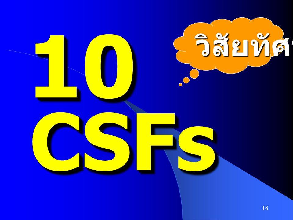 16 1010 CSFsCSFs วิสัยทัศน์
