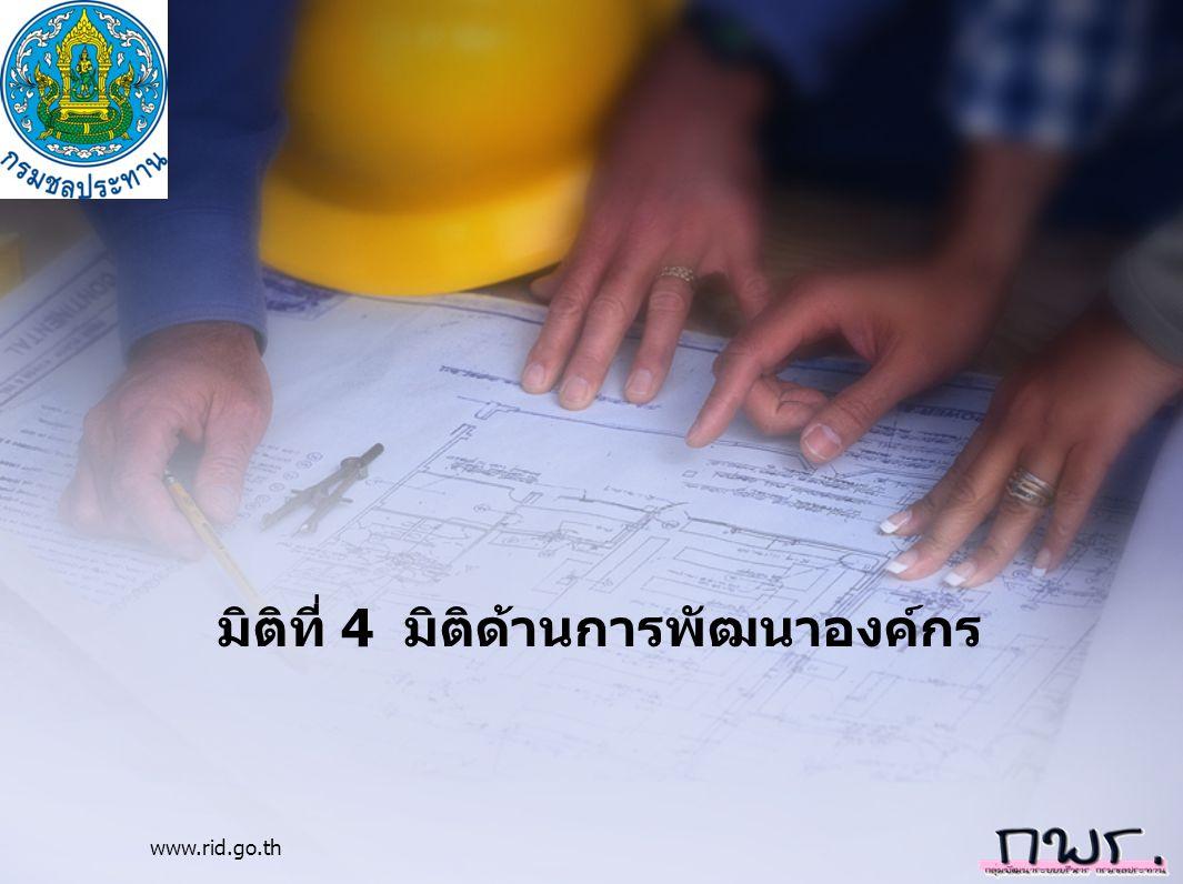 www.rid.go.th มิติที่ 4 มิติด้านการพัฒนาองค์กร
