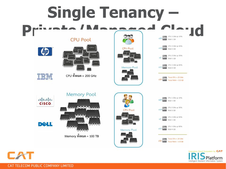 Single Tenancy – Private/Managed Cloud
