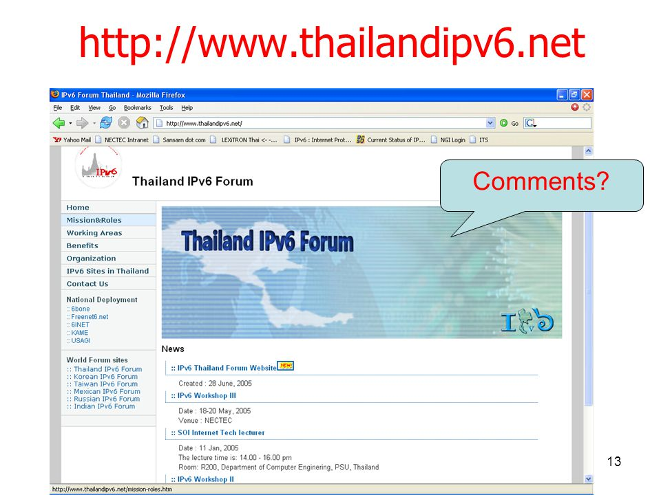 13 http://www.thailandipv6.net Comments?