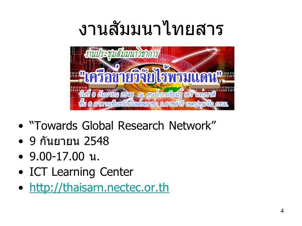 5 Invitation to WIDE Workshop http://www.coe.psu.ac.th/SOI-AI3-Autumn-Meeting/