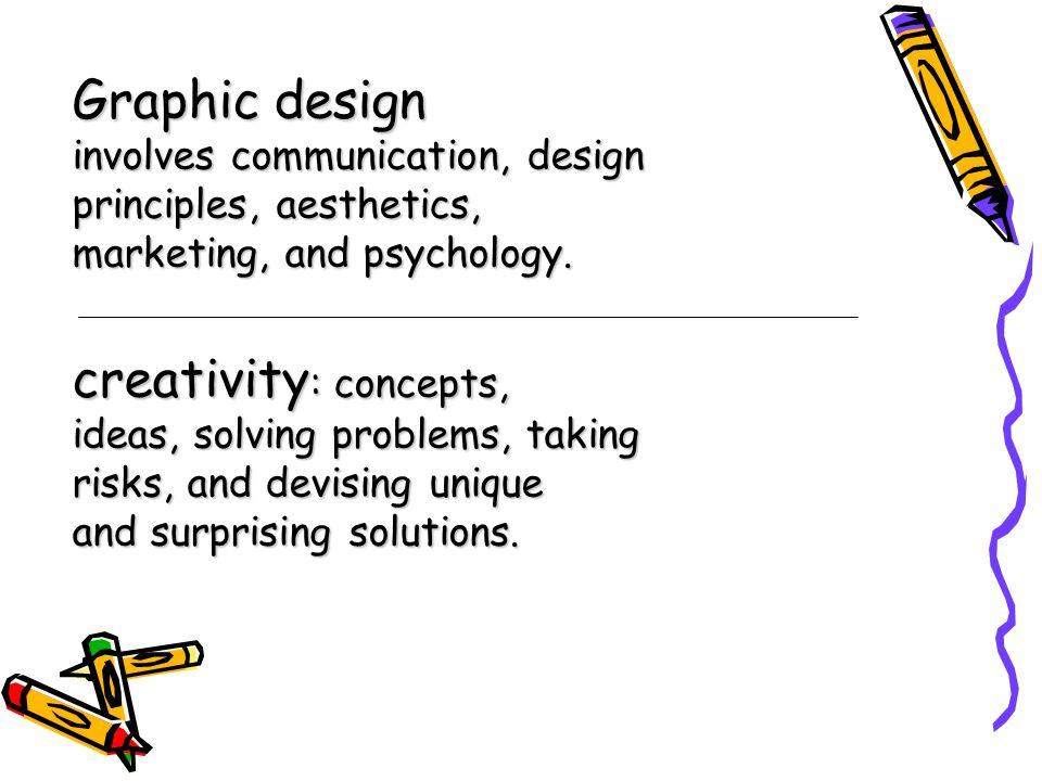 ความคิด สร้างสรรค์ การผนวกส่วนของความคิดลึกๆ ภายในใจประยุกต์ใช้แก้ไข ปัญหา แก้ไขโจทย์ต่างๆ และ เงื่อนไขต่างๆที่มีอยู่ โดยมี รูปแบบค่อนข้างใหม่ไม่ซ้ำกับสิ่ง ที่มีอยู่แล้ว และมีคุณค่าในการ ตอบโจทย์เป้าหมาย