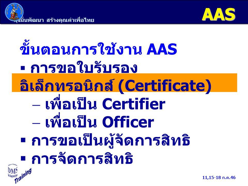 มุ่งมั่นพัฒนา สร้างคุณค่าเพื่อไทย 11,15-18 ก.ค.46 ธปท.สถาบันการเงิน นำส่งระเบียบ EFSศึกษาระเบียบ EFS ผู้มีอำนาจลงนามผูกพัน (MD) 1.ลงลายมือชื่อใน หนังสือแสดงความตกลง EFS 2.ลงลายมือชื่อใน หนังสือแต่งตั้งผู้มีอำนาจลงนาม แต่งตั้ง Certifier ธปท.