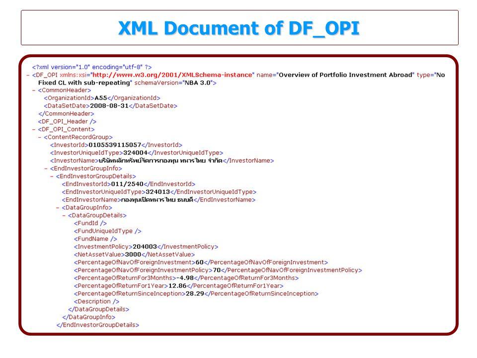 XML Document of DF_OPI