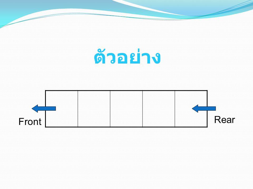 ตัวอย่าง Front Rear