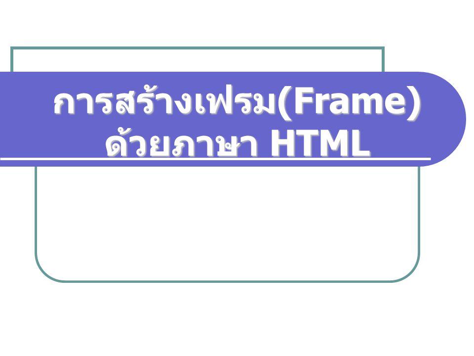 Computer and Internet (310101)2 คำสั่งกำหนดเฟรม ใช้ Tag … กำหนดให้ Browser แสดงผลแบบเฟรม กำหนดขนาดของเฟรม ใช้ attributes 2 ตัวคือ ROWS และ COLS  ROWS เป็น attribute แบ่งเฟรมตามแนวนอนตามค่า ที่กำหนด ROWS = lists  COLS เป็น attribute แบ่งเฟรมตามแนวตั้งตามค่า ที่กำหนด COLS = lists Lists เป็นชุดค่าตัวเลขที่ใช้กำหนดขนาดให้กับเฟรมตามแนวนอน หรือแนวตั้ง ถ้ามีหลายค่าจะคั่นด้วยเครื่องหมายจุลภาค