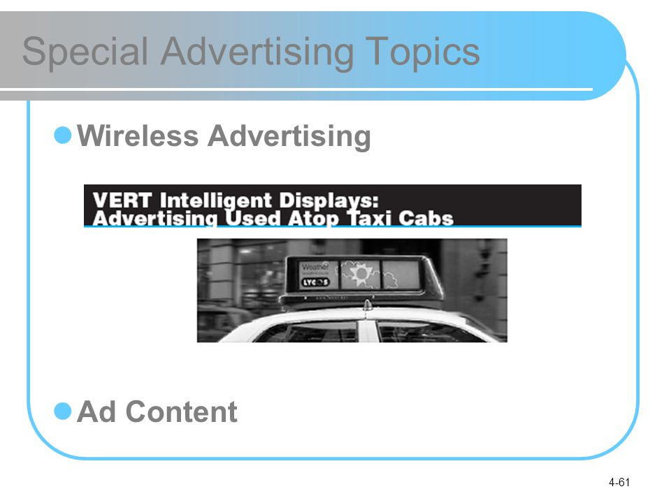 4-61 Special Advertising Topics Wireless Advertising Ad Content