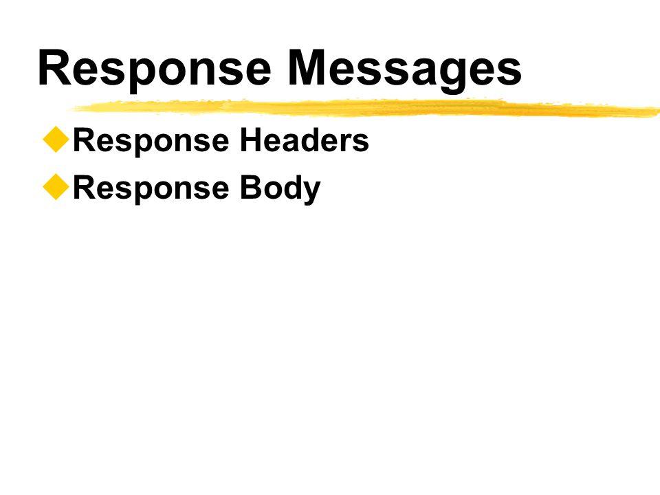 Response Messages  Response Headers  Response Body