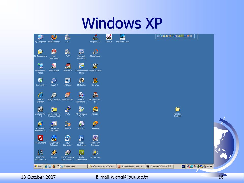 13 October 16 Windows XP