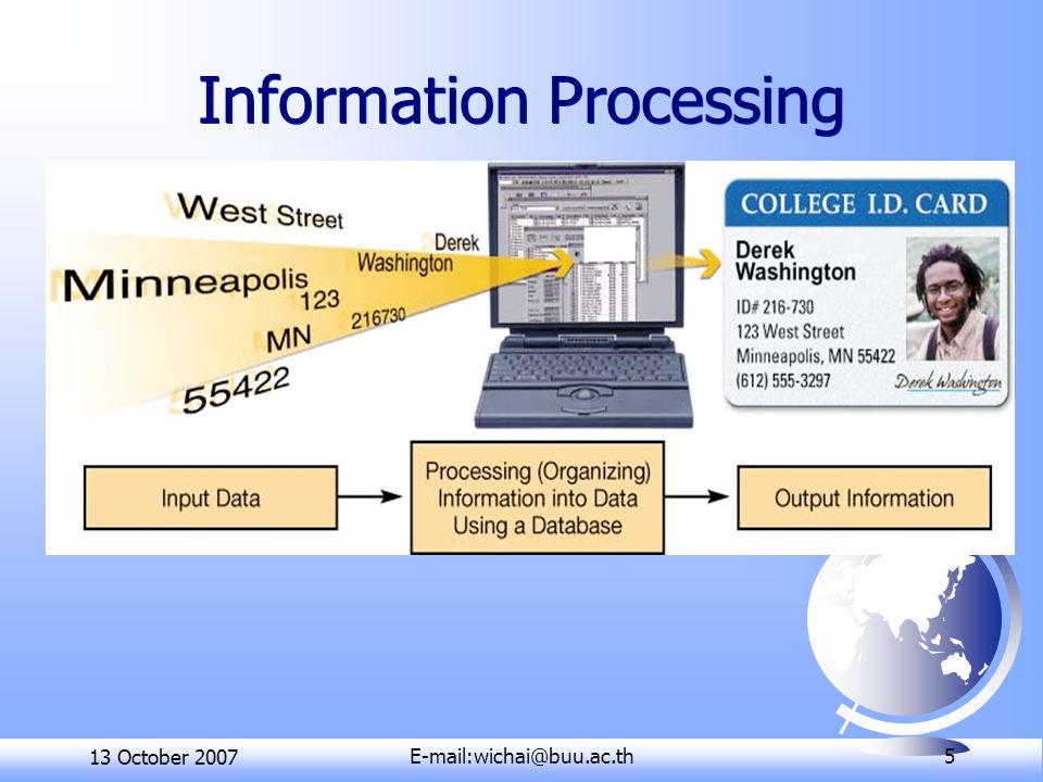 13 October 2007E-mail:wichai@buu.ac.th 16 Windows XP