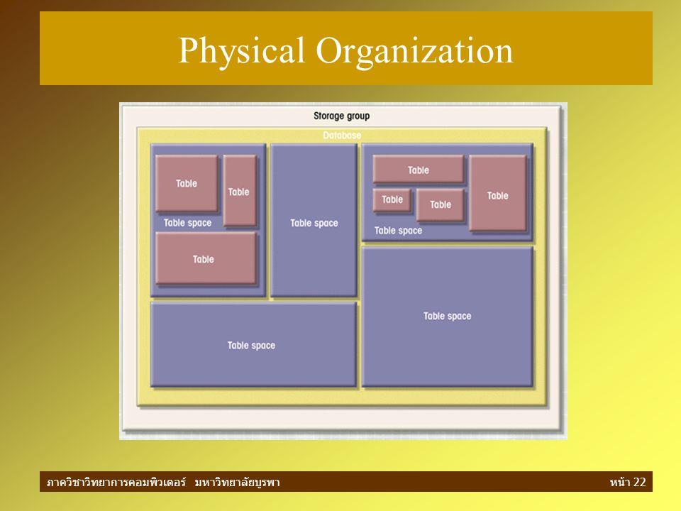 ภาควิชาวิทยาการคอมพิวเตอร์ มหาวิทยาลัยบูรพาหน้า 22 Physical Organization