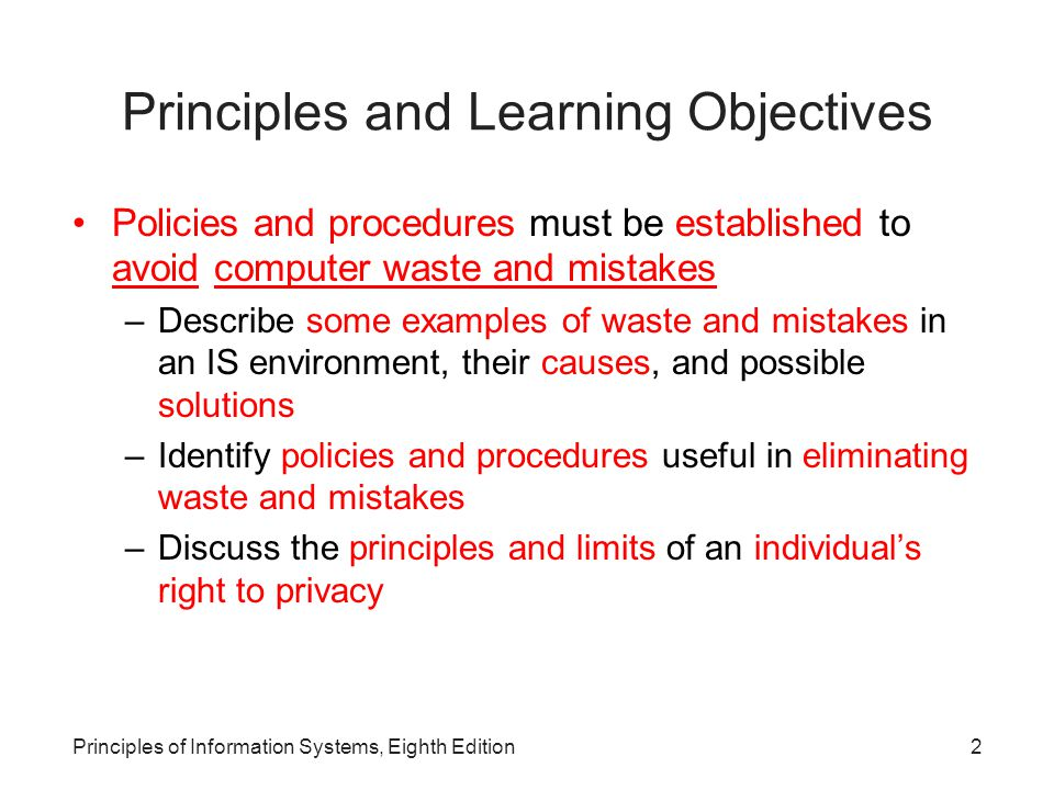 43Principles of Information Systems, Eighth Edition Fairness in Information Use Table 14.4: The Right to Know and the Ability to Decide