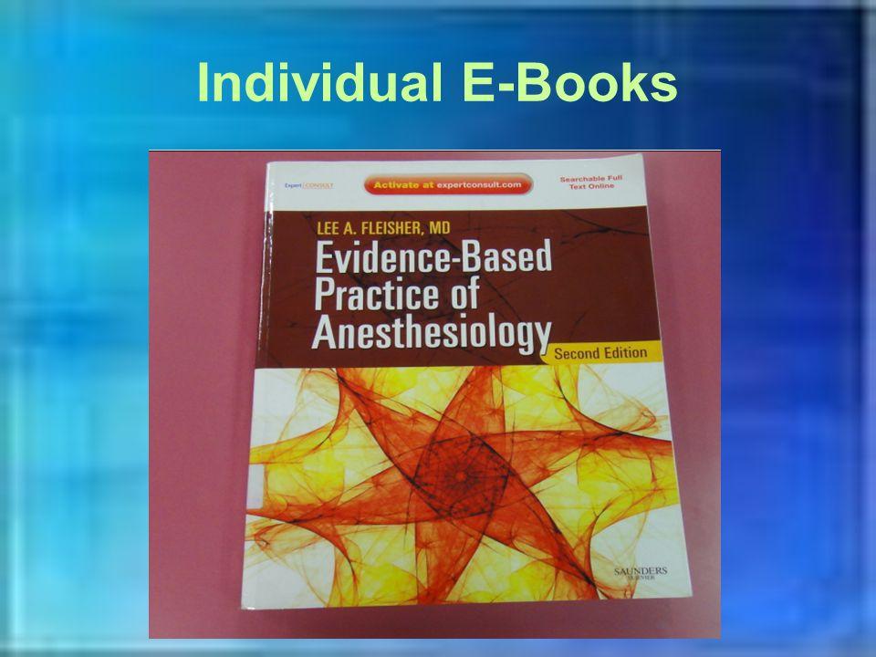 Individual E-Books