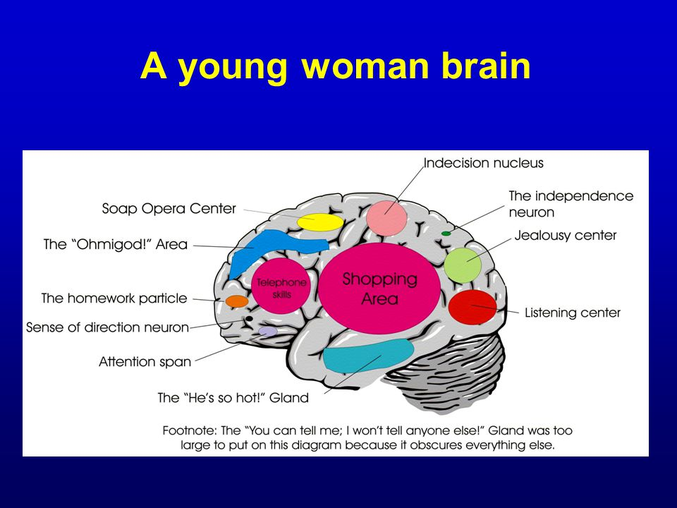 A young woman brain