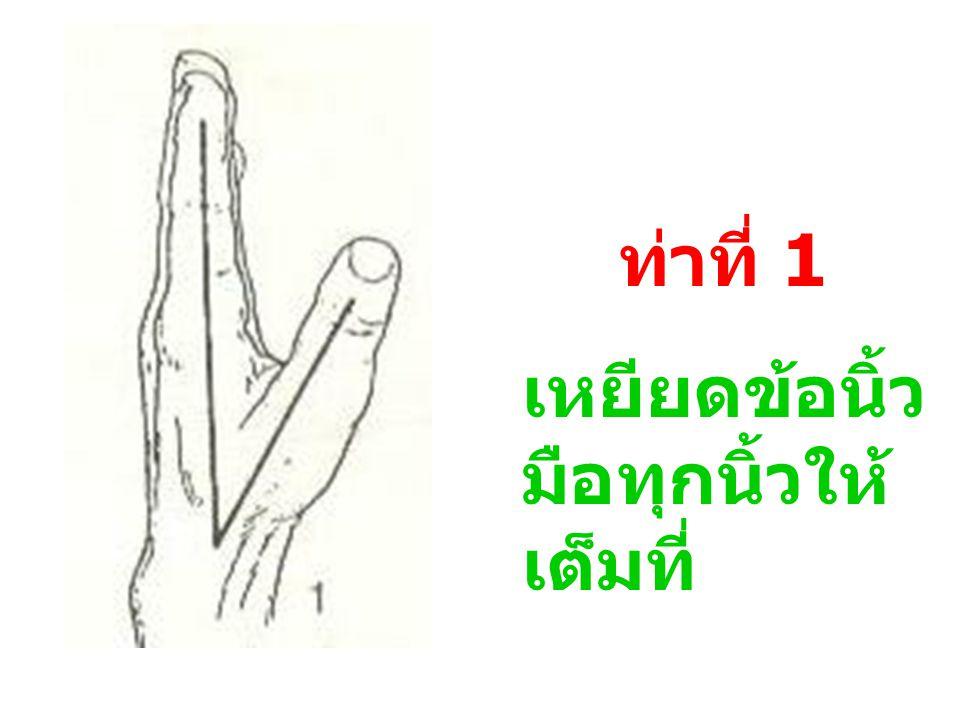 วิธีการออกกำลัง ข้อนิ้วมือ 6 ท่า