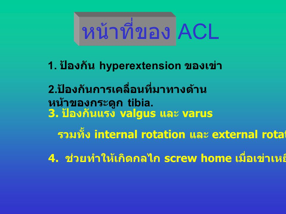 ACL Reconstructi on