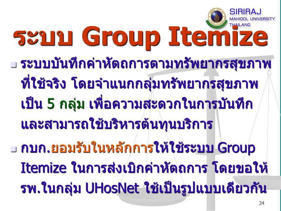 35 ระบบส่งเบิก Group Itemize
