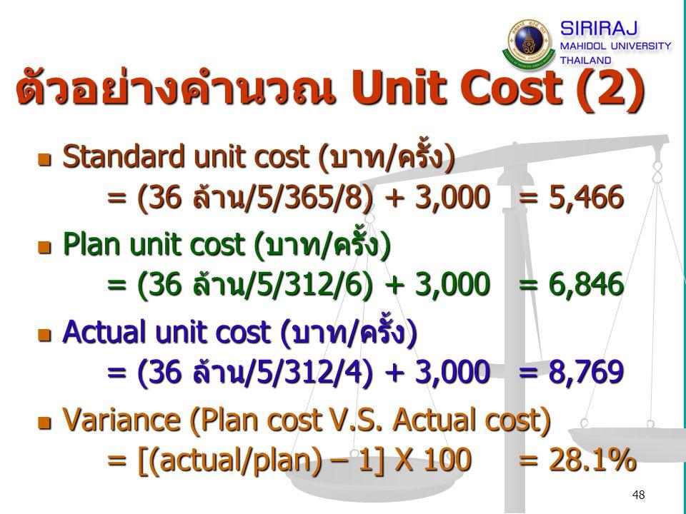 49 การคิดอัตราค่าบริการ การคิดค่าบริการ (แนวคิดของกรมบัญชีกลาง) Price = Total cost + Future dev.