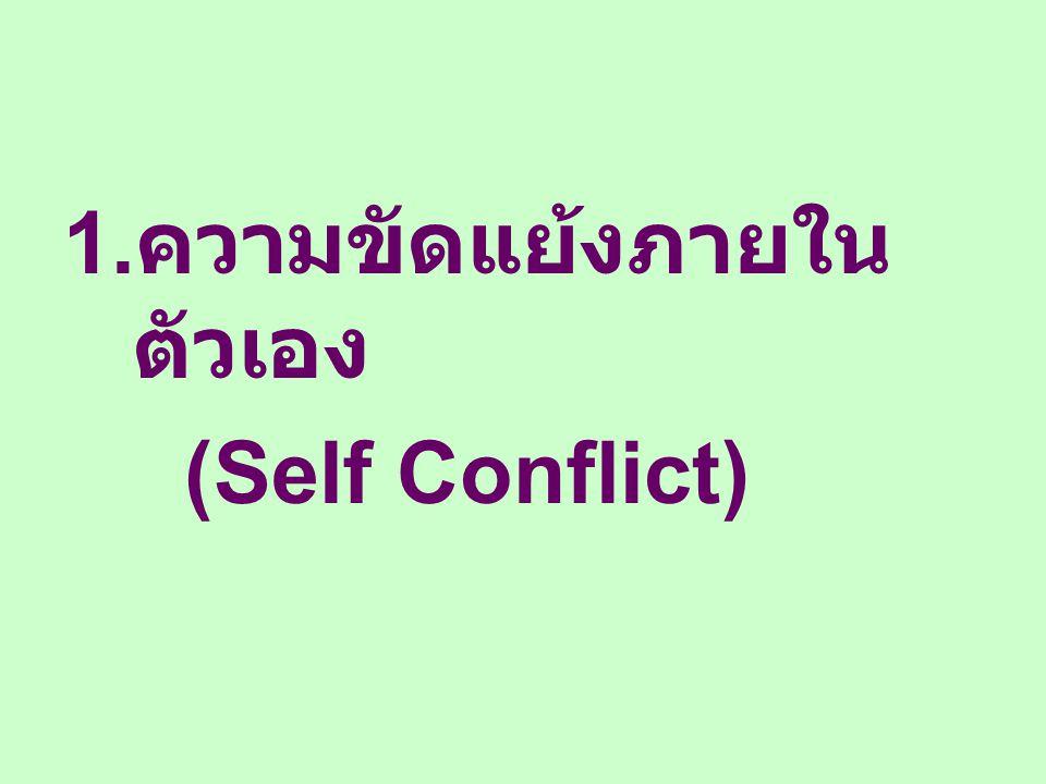 1. ความขัดแย้งภายใน ตัวเอง (Self Conflict)